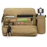 Multi Function Canvas Crossbody Bag - KHAKI