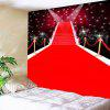 Red Carpet Stage Pattern Waterproof Wall Hanging Tapestry - RED