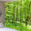 Green Forest Pattern Waterproof Wall Hanging Tapestry - GREEN