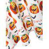 Plus Size Boo Halloween Pumpkin Vintage Dress - WHITE