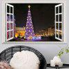 Window Christmas Tree 3D Wall Art Sticker For Living Room - COLORMIX