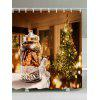 Christmas Tree Biscuits Print Fabric Waterproof Shower Curtain - COLORMIX