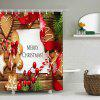 Christmas Cookies Print Fabric Waterproof Shower Curtain - COLORMIX