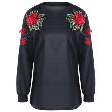 Floral Embroidery Sweatshirt