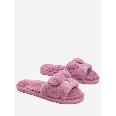 Pom Pom Open Toe Slippers
