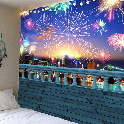 Buy COLORFUL Colorful Fireworks Pattern Waterproof Wall Hanging Tapestry for $14.44 in GearBest store
