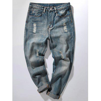 Zipper Fly Harem Jeans