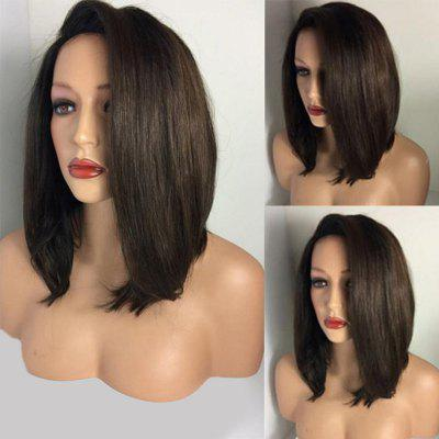 Medium Deep Side Parting Straight Bob Synthetic Wig