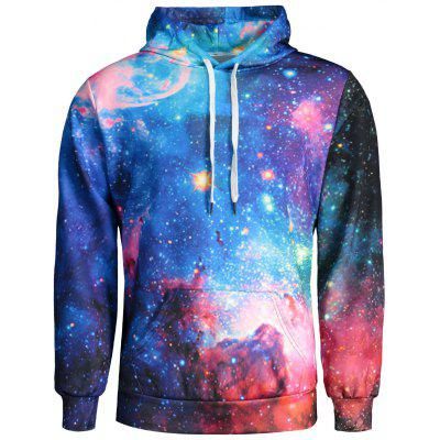 Colorful Galaxy Print Hoodie