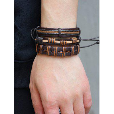 Vintage Artificial Leather Woven Friendship Bracelets SetMens Jewelry<br>Vintage Artificial Leather Woven Friendship Bracelets Set<br><br>Chain Type: Leather Chain<br>Gender: For Men<br>Item Type: Strand Bracelet<br>Package Contents: 1 x Bracelet<br>Shape/Pattern: Round<br>Style: Trendy<br>Weight: 0.0580kg