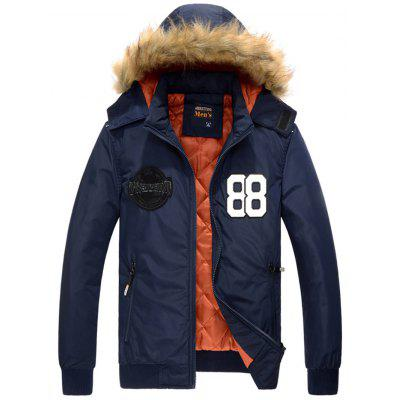 Detachable Hood Zip Up 88 Patch Jacket