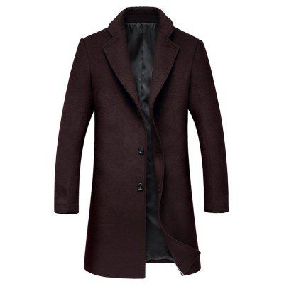 Single Breasted Lapel Wool Mix Coat