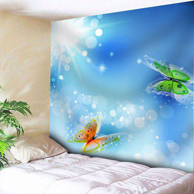 Buy SKY BLUE Butterfly Print Wall Hanging Tapestry for $18.42 in GearBest store