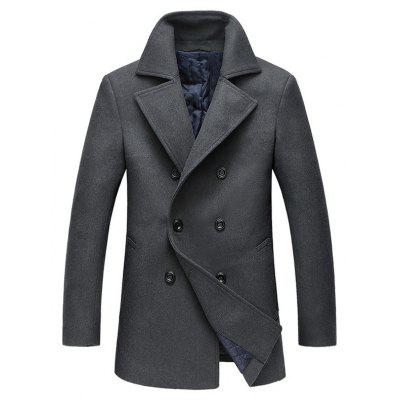 Lapel Collar Double Breasted Pea Coat