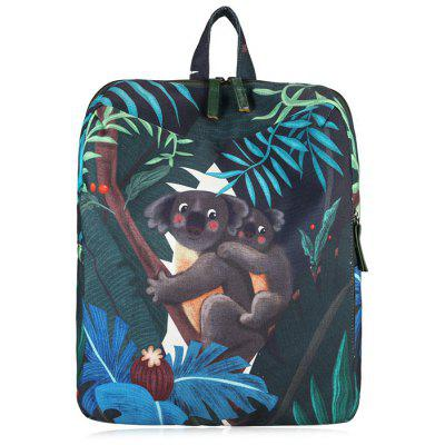 Buy GRAY Print Animal Leaves Backpack for $22.87 in GearBest store