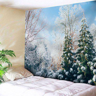 Buy COLORMIX Snowscape Print Wall Hanging Tapestry for $20.64 in GearBest store