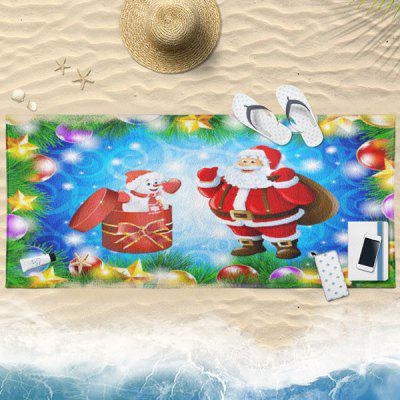 Buy BLUE Santa Claus Print Christmas Bath Towel for $19.36 in GearBest store