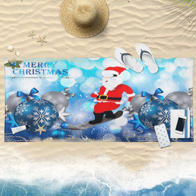 Buy ICE BLUE Christmas Ball Santa Claus Bath Towel for $19.36 in GearBest store