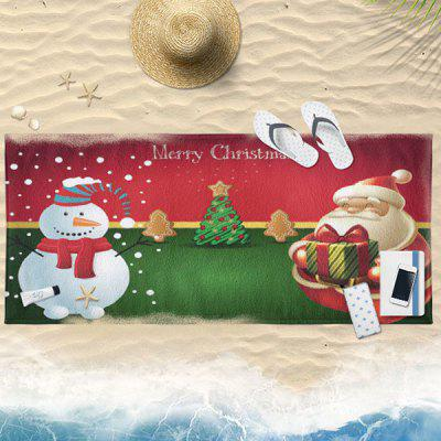 Christmas Graphic Water Absorption Bath Towel