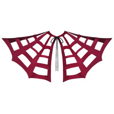 Halloween Tie Up Hollow Out Bat Cape