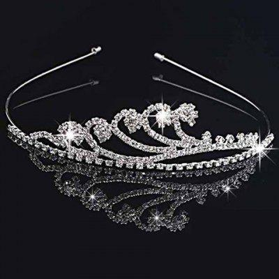 Gorgeous Solid Color Rhinestone Crown For Women