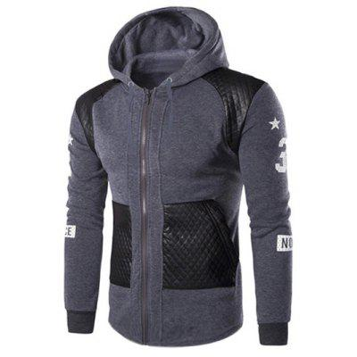 Casual Splicing Zipper Hoodie For Men