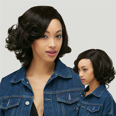 Shaggy Short Curly Capless Side Parting Heat Resistant Synthetic Wig