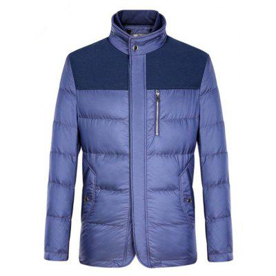 Spliced Zipper-Up Pockets Design Padded Jacket ODM Designer