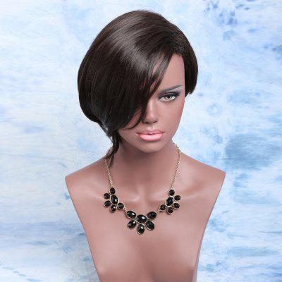 Adiors Short Asymmetric Fluffy Side Parting Bob Synthetic Wig
