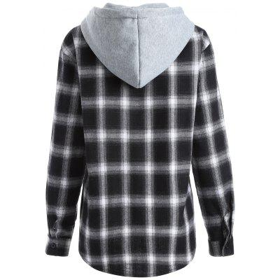 Casual Hooded Loose Gingham Checked ShirtBlouses<br>Casual Hooded Loose Gingham Checked Shirt<br><br>Collar: Hooded<br>Material: Cotton<br>Package Contents: 1 x Shirt<br>Pattern Type: Plaid<br>Season: Fall<br>Shirt Length: Regular<br>Sleeve Length: Full<br>Style: Fashion<br>Weight: 0.339kg