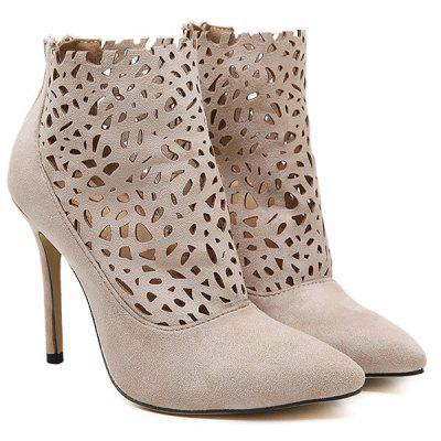Hollow Out Ankle Boots