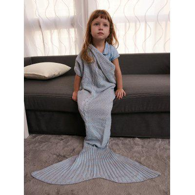 Buy GRAY Keep Warm Crochet Knitting Mermaid Tail Style Blanket For Kids for $15.51 in GearBest store