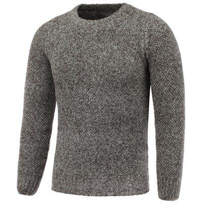 Girocollo Heather Tweed Pullover Maglione