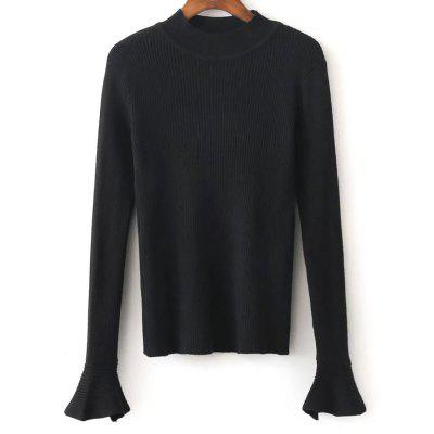 Flare Sleeve Stretchy Knitwear
