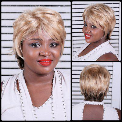 Short Multi Color Fluffy Side Bang Straight Synthetic Wig