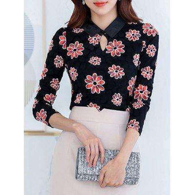 Fleece Flower Lace Top