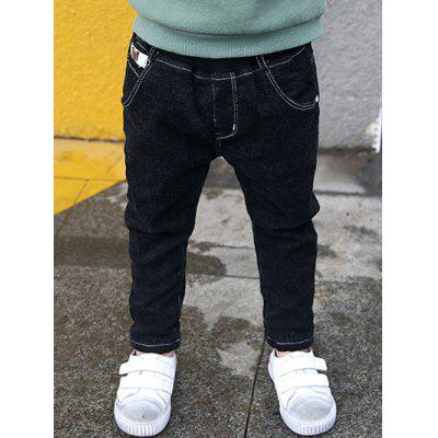 Elastic Waist Boys Thick Fleece Pants