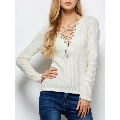 Lace Up coste Jumper