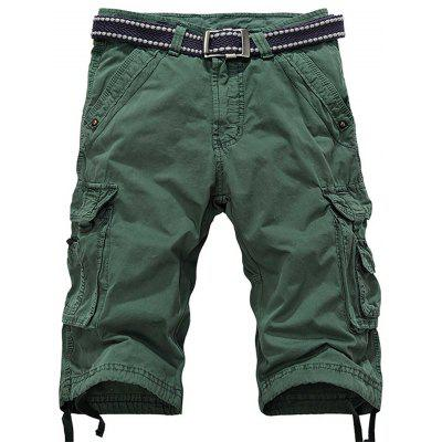 Zipper Fly Multiple Tasche Cargo Shorts
