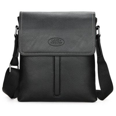 Faux Leather Flapped Crossbody Bag