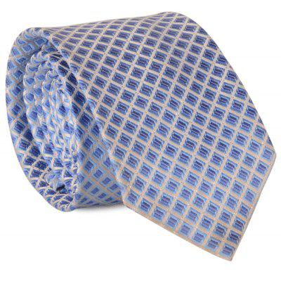 7CM Width Tie with Lattice Jacquard