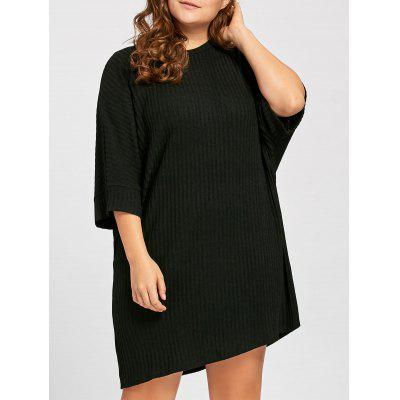 Plus Size Ribbed Knitted Tunic T shirt 227638701