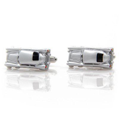 Pair of Stylish Personality Small Toy Chariot Car Shape Cufflinks For Men
