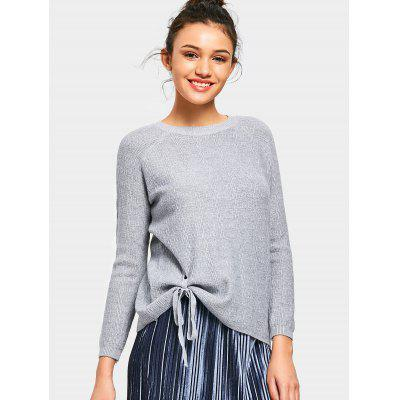 Bowknot Raglan Sleeve Sweater