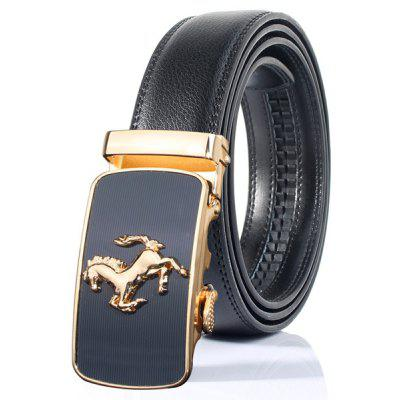 Stylish Horse Shape Emboss Automatic Buckle Wide Belt