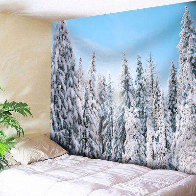 Snowscape Printed Wall Decor Tapestry