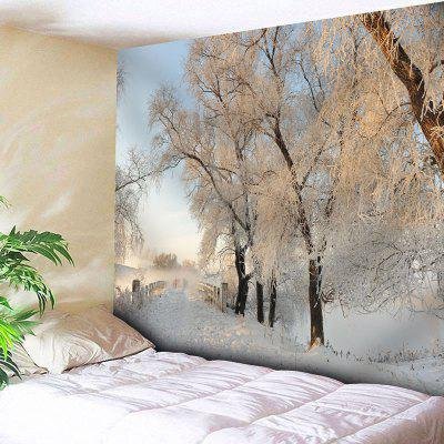 Bedroom Decor Snowscape Wall Tapestry