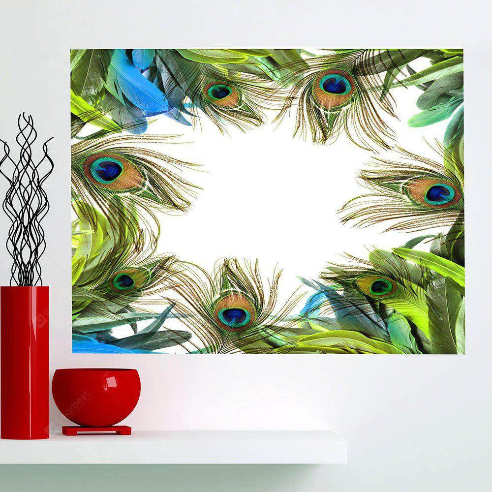 Peacock Feathers Printed Multifunction Waterproof Wall Art Painting