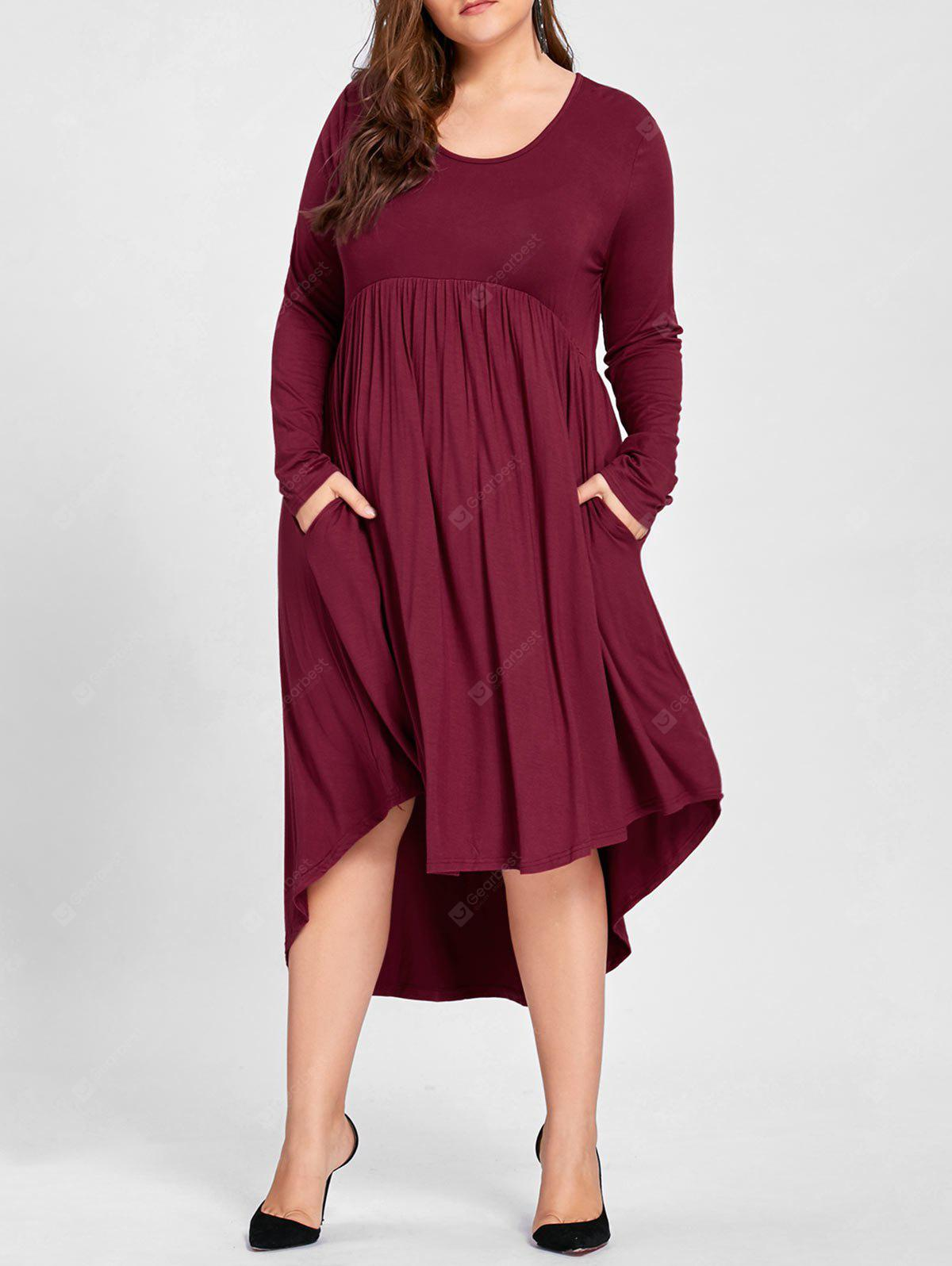 Plus Size High Low Shirt Kleid