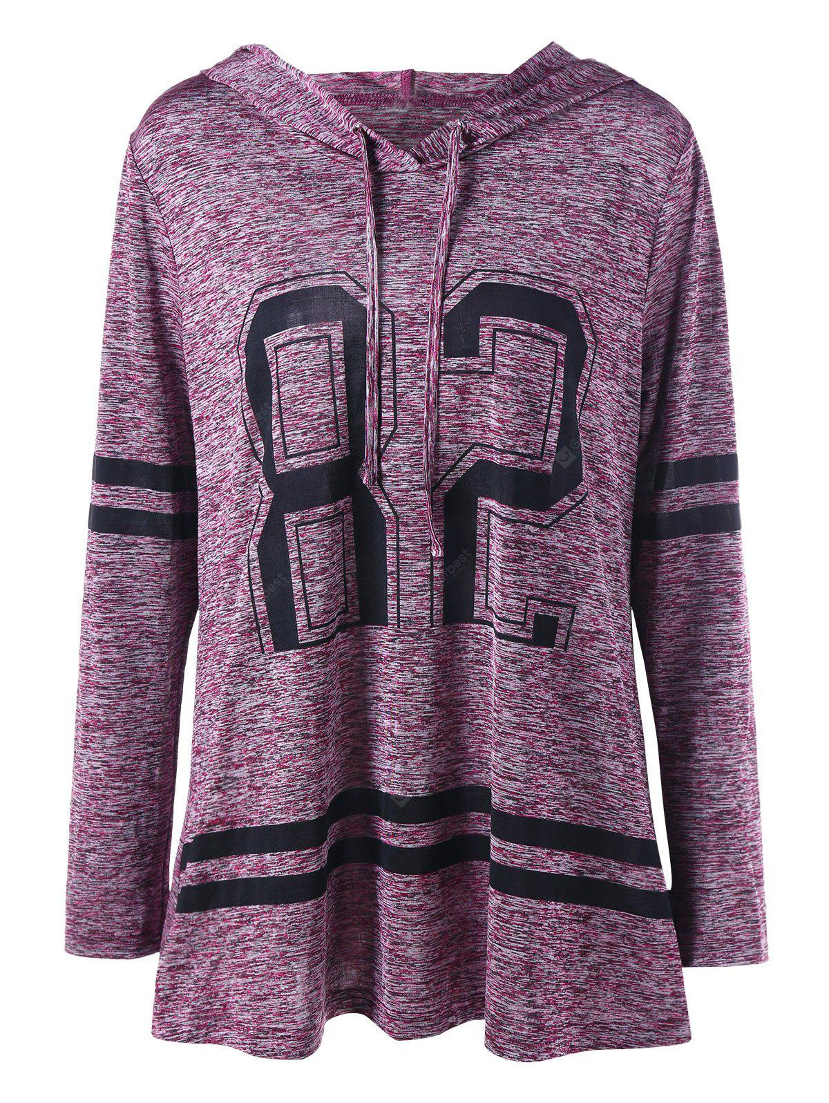 Plus Size Marled Tunic Hoodie
